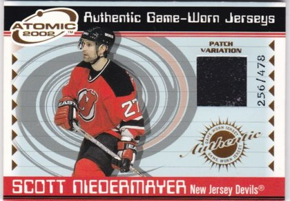 Scott Niedermayer Pacifis Atomic 2001-02 Game Worn Jersey (Patch Variation) č. 3