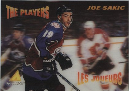 Hokejová karta Joe Sakic Pinnacle 1995-95 McDonald´s Game Winners č. NNO