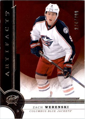Hokejová karta Zach Werenski UD Artifacts 2016-17 Red limit 270/799 č. RED189
