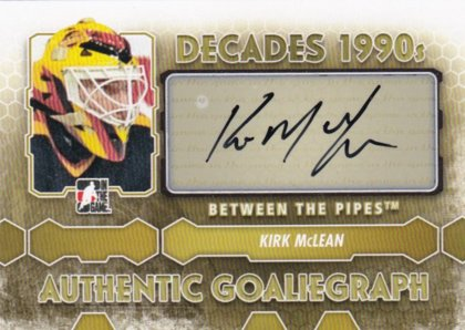 hokejová karta Kirk McLean Between the Pipes 2012-13 AUTHENTIC GOLIEGRAPH