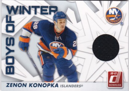 Hokejová karta Zenon Konopka Donruss 2010-11 Boys Of Winter č. 9