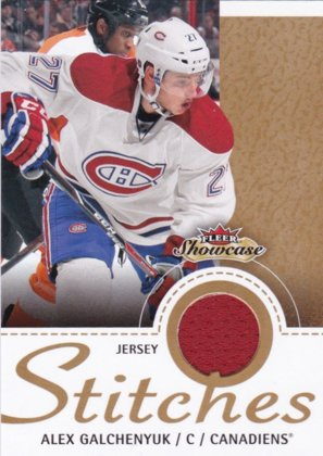 Hokejová karta Alex Galchenyuk Stitches Fleer Showcase 2013-14 č. S-AG