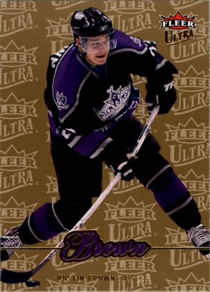 hokejová karta Dustin Brown Ultra Fleer 2007-08 Gold Medallion č. 110