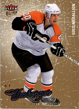 hokejová karta R.J. Umberger Ultra Fleer 2008-09 Gold Medallion č. 133
