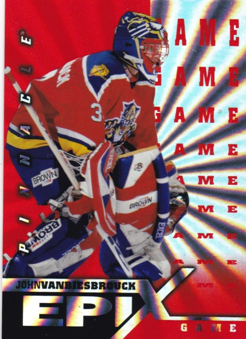 Hokejová karta John Vanbiesbrouck Pinnacle 1997-98 Epix Play Orange č. E2