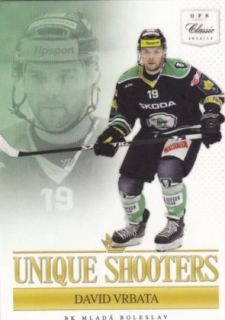 Hokejová karta David Vrbata OFS 14-15 S.I. Unique Shooters