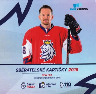 Box hokejových karet Czech Ice Hockey Team 2019 Hockey Moje kartičky Hobby Box