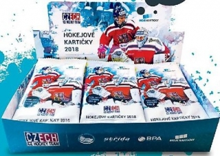 Box hokejových karet Czech Ice Hockey Team Hockey Moje kartičky Retail Box