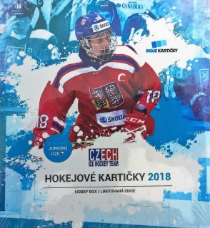 Box hokejových karet Czech Ice Hockey Team 2018 Hockey Moje kartičky Hobby Box