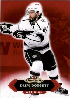 Hokejová karta Drew Doughty Fleer Showcase 2016-17 Red Glow č. 62