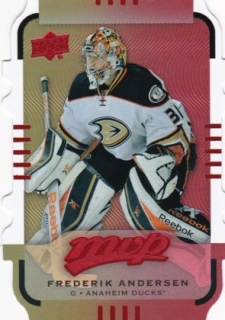 hokejová karta Frederic Andersen  Upper Deck MVP 2015-16 COLORS AND CONTOURS