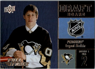 Hokejová karta Evgeni Malkin UD Full Force 2015-16 Draft Board č. DB-EM