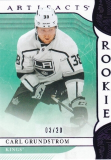 Hokejová karta Carl Grundstrom Artifacts 2019-20 Rookie Purple /20 č. 176