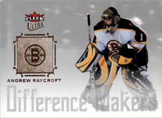 Hokejová karta Andrew Raycroft Fleer 2005-06 Difference Makers č. DM12