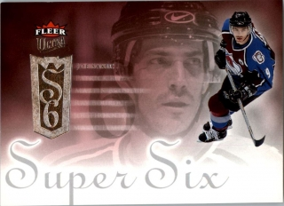 Hokejová karta Joe Sakic Fleer 2005-06 Super Six č. SS5