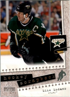 Hokejová karta Mike Modano Upper Deck 2005-06 Hockey Scrapbook č. HS9