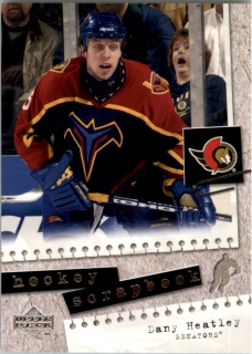 Hokejová karta Dany Heatley Upper Deck 2005-06 Hockey Scrapbook č. HS15