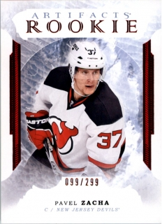 Hokejová karta Pavel Zacha Artifacts 2016-17 Rookie Ruby /299 č. 171