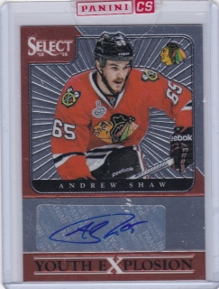 Hokejová karta Andrew Shaw Panini Select 2013-14 Youth Explosion Auto č. YE-AS