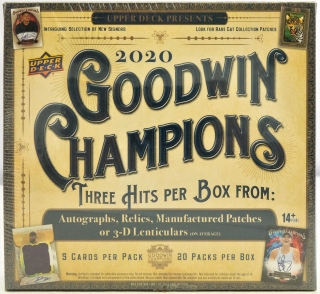 Box karet Upper Deck 2020 Goodwin Champions Hobby Box