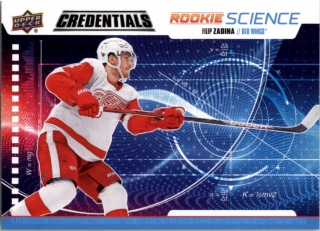 Hokejová karta Filip Zadina UD Credentials 2019-20 Rookie Science č. RS-05