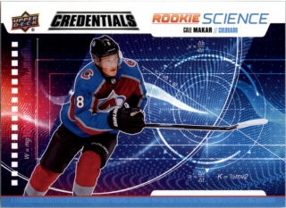 Hokejová karta Cale Makar UD Credentials 19-20 Rookie Science č. RS-25