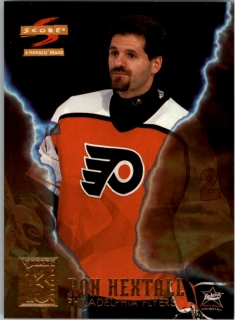 Hokejová karta Ron Hextall Pinnacle Score 1996-97 Superstitions č. 9 of 13