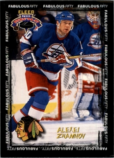 Hokejová karta Alexei Zhamnov Fleer 1997-98 Fabulous Fifty 50 of 50