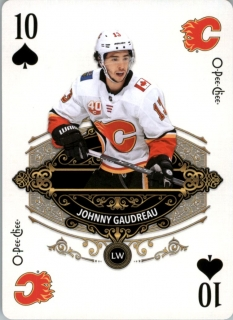 Hokejová karta Johnny Gaudreau OPC 2020-21Playing Cards č. 4-Spades