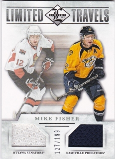 Hokejová karta Mike Fisher Panini Limited 12-13 Limited Travels /199