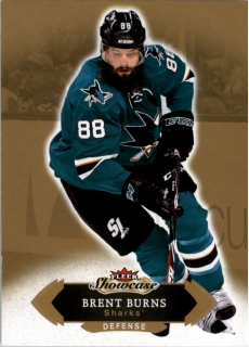 Hokejová karta Brent Burns Fleer Showcase 16/17 Base č. 100