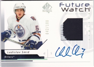Hokejová karta Ladislav Šmíd UD SP Authentic 2006-07 Future Watch /100 AU č.178