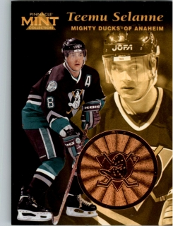 Hokejová karta Teemu Selanne Pinnacle Mint Collection 1996-97 č. 13 of 30
