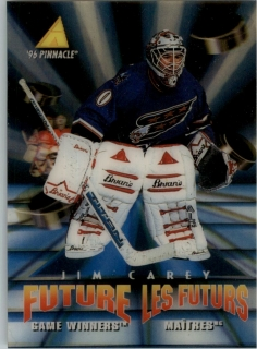 Hokejová karta Jim Carey Pinnacle 1995-96 Future Game Winners 3D RC č. McD-40