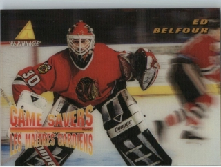 Hokejová karta Ed Belfour Pinnacle 1995-96 Game Savers 3D č. McD-29