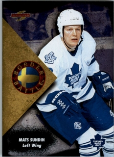 Hokejová karta Mats Sundin Pinnacle Score 1995-96 Border Battle č. 15 of 15