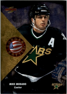 Hokejová karta Mike Modano Pinnacle Score 1995-96 Border Battle č. 9 of 15