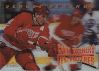Hokejová karta Sergei Fedorov Pinnacle 1995-96 Game Winners 3D č. McD-17