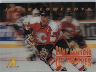 Hokejová karta Joe Nieuwendyk Pinnacle 1995-96 Game Winners 3D č. McD-12