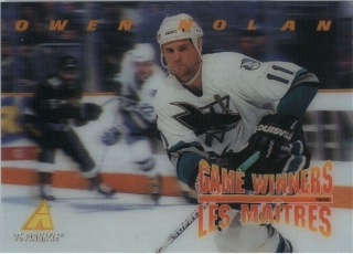 Hokejová karta Owen Nolan Pinnacle 1995-96 Game Winners 3D č. McD-10