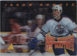 Hokejová karta Jason Arnott Pinnacle 1995-96 Game Winners 3D č. McD-14