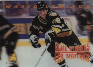 Hokejová karta Mario Lemieux Pinnacle 1995-96 Game Winners 3D č. McD-15