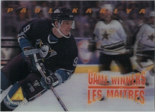 Hokejová karta Paul Kariya Pinnacle 1995-96 Game Winners 3D č. McD-11