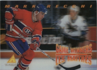 Hokejová karta Mark Recchi Pinnacle 1995-96 Game Winners 3D č. McD-24