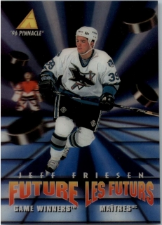 Hokejová karta Jeff Friesen Pinnacle 1995-96 Future Game Winners 3D RC