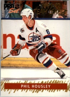 Hokejová karta Phil Housley Proset 1992-93 Proset Team Leader 14 of 15