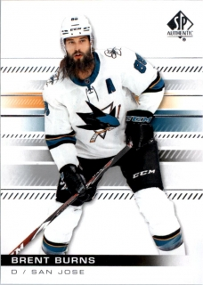 Hokejová Karta - Brent Burns SP Authentic 2019-20 řadová č.63