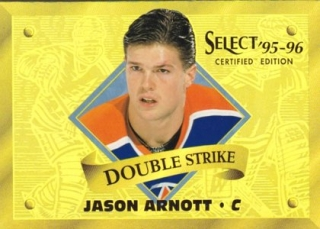 Hokejová karta Jason Arnott Select Certified 95/96 Double Strike GOLD