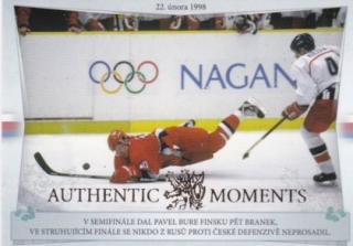 Hokejová karta Pavel Bure / František Kučera Authentic Moments Gold