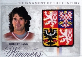 Hokejová karta Robert Lang  Tournament Of The Century Logo Patch /12